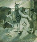 Henri de Toulouse-Lautrec - Dietro le quinte del circo. Stampa su tela