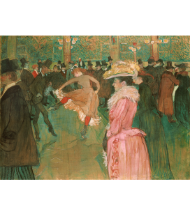 Henri de Toulouse-Lautrec - Ballo al Moulin Rouge. Stampa su tela
