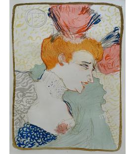 Henri de Toulouse-Lautrec - Mademoiselle Marcelle Lender. Printing on canvas