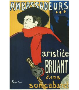 Henri de Toulouse-Lautrec - Aristide Bruant, Ambassadeurs. Printing on canvas