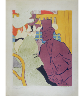 Henri de Toulouse-Lautrec - French Flirt (An Englishman at the Moulin Rouge). Printing on canvas