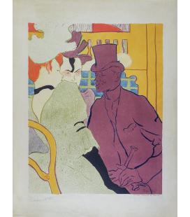 Henri de Toulouse-Lautrec - French Flirt (Un inglese al Moulin Rouge). Stampa su tela