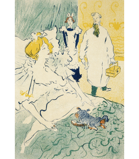 Henri de Toulouse-Lautrec - Niederkorn. Printing on canvas