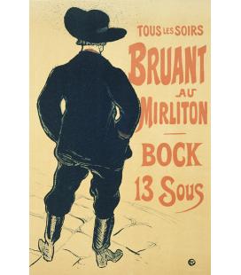 Henri de Toulouse-Lautrec - Bunting al Mirliton. Stampa su tela