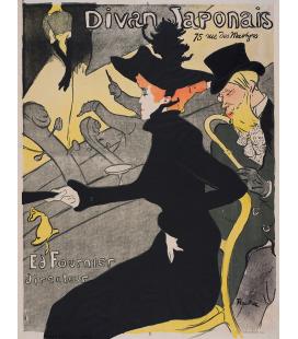 Henri de Toulouse-Lautrec - Divano giapponese. Stampa su tela
