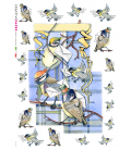Decoupage rice paper: Carrier Pigeon