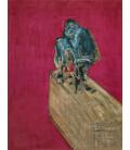 Francis Bacon - Studio per scimpanzé. Stampa su tela