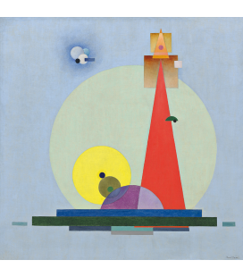 Bauer Rudolf - The Holy One (Red Point), Printing on canvas