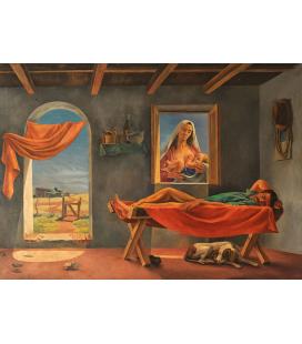 Antonio Berni - La Siesta, Stampa su tela