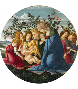 Sandro Botticelli - Madonna Adoring the Child with Five Angels. Printing on canvas