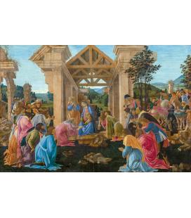 Sandro Botticelli - L'adorazione dei Magi. Stampa su tela