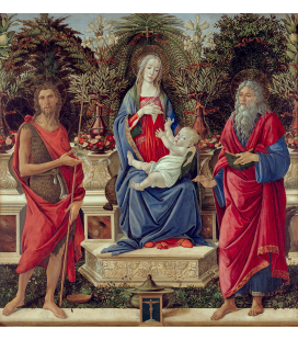 Sandro Botticelli - Madonna con santi. Stampa su tela