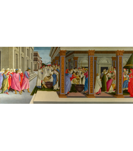 Sandro Botticelli - Four Scenes from the Early Life of Saint Zenobius. Printing on canvas