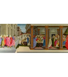 Sandro Botticelli - Quattro scene della vita antica di San Zanobi. Stampa su tela