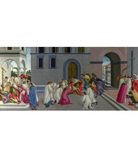 Sandro Botticelli - Tre miracoli di San Zanobi. Stampa su tela