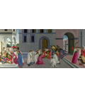 Sandro Botticelli - Three Miracles of Saint Zenobius. Printing on canvas