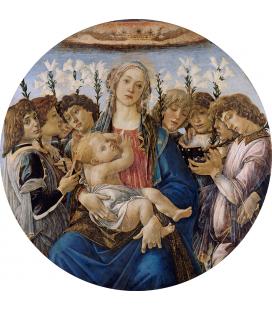 Sandro Botticelli - Maria con il bambino e gli angeli cantanti. Stampa su tela