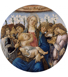 Sandro Botticelli - Mary with the Child and Singing Angels. Printing on canvas