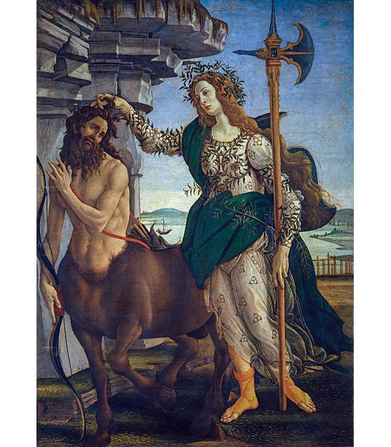 Sandro Botticelli - Pallas and the centaur. Printing on canvas