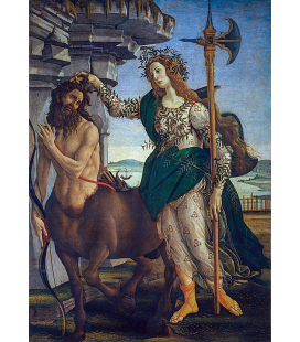 Sandro Botticelli - Pallas and the centaur. Printing on canvas