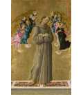 Sandro Botticelli - Saint Francis of Assisi with Angels. Printing on canvas