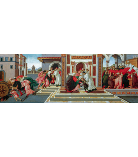 Sandro Botticelli - L'ultimo miracolo e la morte di Zenobio. Stampa su tela