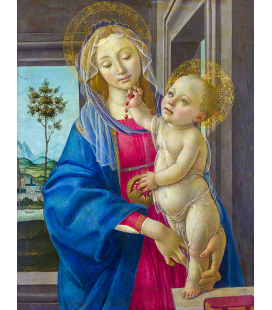 Sandro Botticelli - The Virgin and Child with a Pomegranate. Printing on canvas