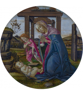 Sandro Botticelli - The Virgin and Child with Saint John the Baptist. Printing on canvas