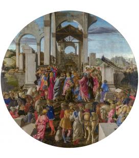 Sandro Botticelli - L'adorazione dei re. Stampa su tela
