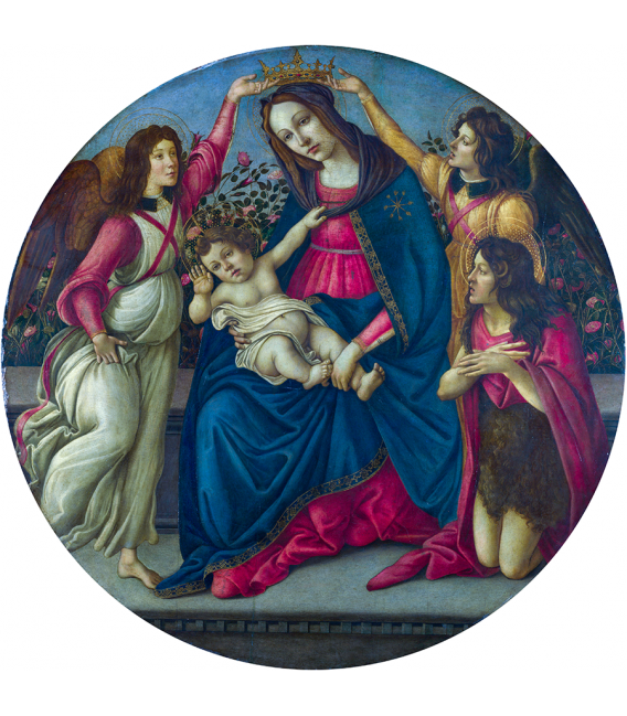 Sandro Botticelli - The Virgin and Child with Saint John and Two Angels. Printing on canvas