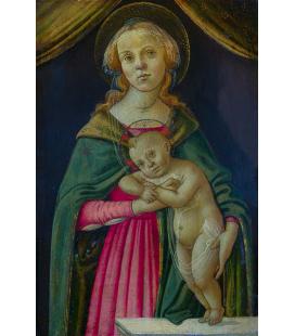 Sandro Botticelli - La Vergine e il bambino. Stampa su tela