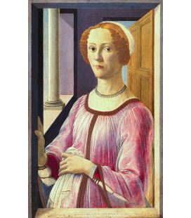 Sandro Botticelli - Ritratto di una donna nota come Smeralda Bandinelli. Stampa su tela