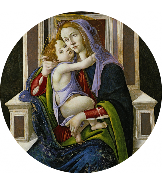 Sandro Botticelli - Madonna and Child. Printing on canvas
