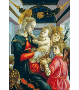 Sandro Botticelli - Madonna and Child with Angels. Printing on canvas