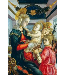 Sandro Botticelli - Madonna col Bambino e angeli. Stampa su tela