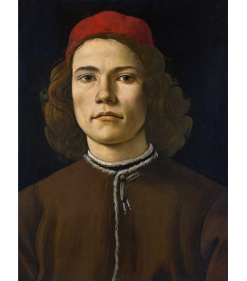 Sandro Botticelli - Portrait of a Young Man. Printing on canvas