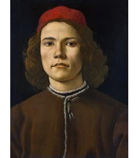 Sandro Botticelli - Ritratto di un giovane Stampa su tela