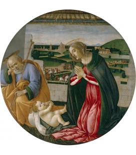 Sandro Botticelli - L'adorazione del bambino. Stampa su tela