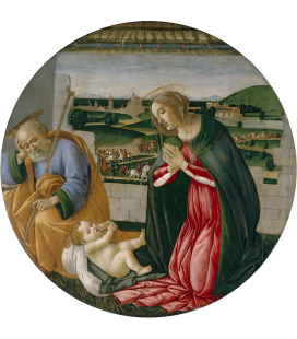 Sandro Botticelli - The adoration of the child. Printing on canvas