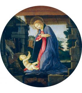 Sandro Botticelli - La Vergine adorante il bambino. Stampa su tela
