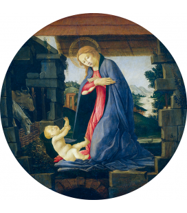 Sandro Botticelli - The Virgin Adoring the Child. Printing on canvas