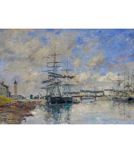Boudin Eugène - Deauville Harbour. Printing on canvas