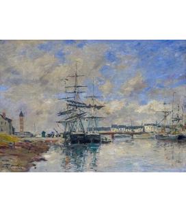 Boudin Eugène - Porto di Deauville. Stampa su tela