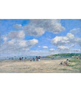 Boudin Eugène - La spiaggia di Tourgéville-les-Sablons. Stampa su tela