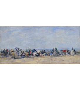 Boudin Eugène - Beach Scene, Trouville. Printing on canvas