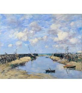 Boudin Eugène - L'ingresso al porto di Trouville. Stampa su tela