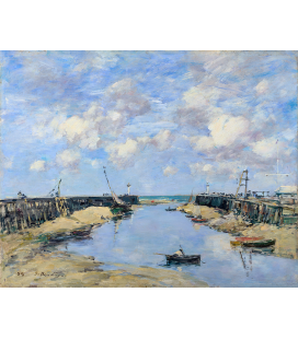 Boudin Eugène - The Entrance to Trouville Harbour. Printing on canvas