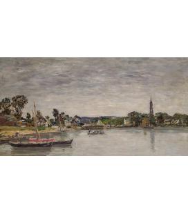 Boudin Eugène - L'Hôpital-Camfrout, Brittany. Printing on canvas