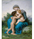 William Adolphe Bouguereau - Fraternal Love. Printing on canvas