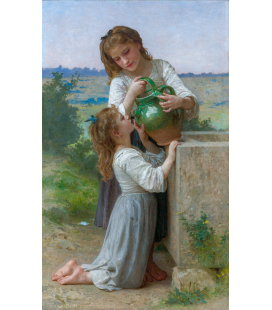 William Adolphe Bouguereau - At The Fountain. Printing on canvas